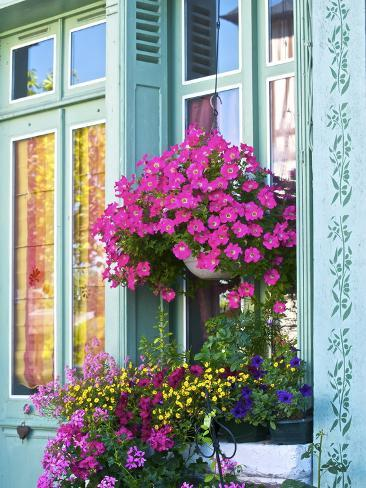 Window With Flowers, France, Europe Photographic Print