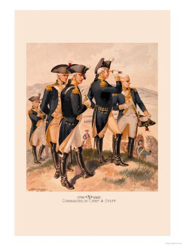Commander in Chief and Staff Art Print