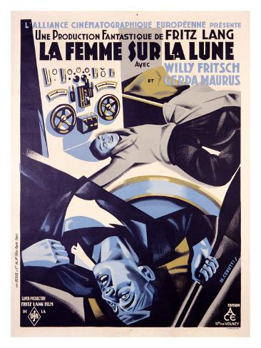 Una donna nella luna (Fritz Lang) Stampa giclée