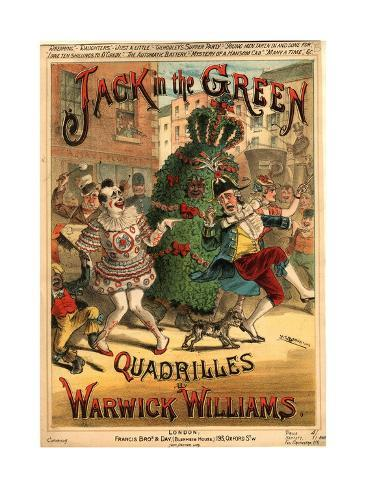 sheet music for 39 jack in the green quadrilles 39 by warwick williams giclee print by h g banks. Black Bedroom Furniture Sets. Home Design Ideas
