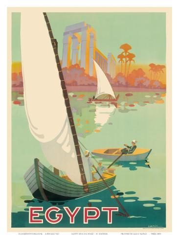 Egypt The Nile River c.1930s Art Print