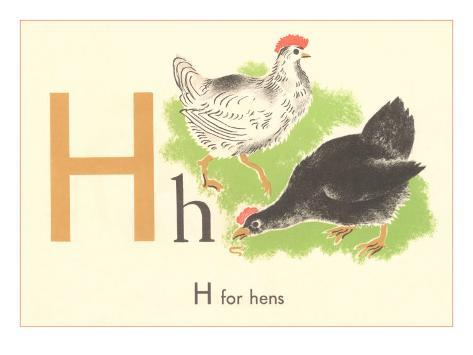 H is for Hen Art Print