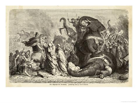 Pyrrhus King of Epirus Invading Italy Defeats the Romans at Asculum Giclee Print