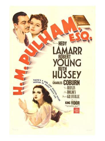H.M. Pulham, Esq., Robert Young, Hedy Lamarr, 1941 Photo
