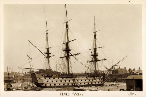 H.M.S. Victory, Sailing Ship, Canonship, Port Stampa giclée