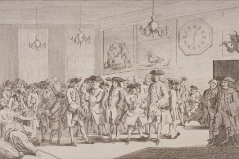 Jonathan's Coffee House, or an Analysis of Change Alley, 1763 Giclee Print