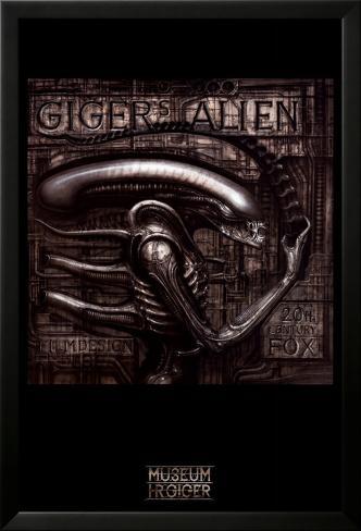 Giger's Alien Lamina Framed Poster