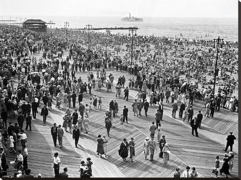 Coney Island Brooklyn 1231 Stretched Canvas Print