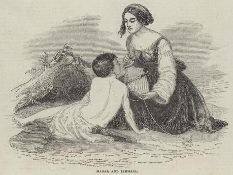 Hagar and Ishmael Lámina giclée