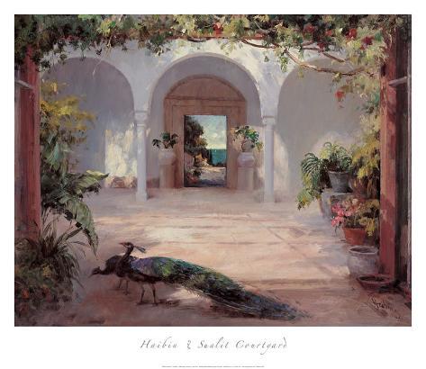 Sunlit Courtyard Art Print