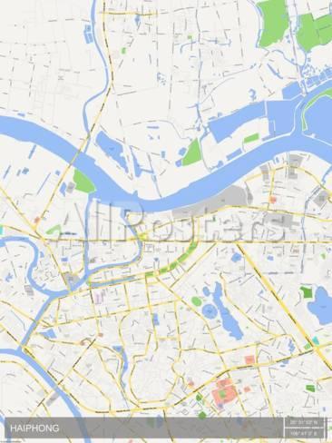 Haiphong Viet Nam Map Prints At Allposters Com