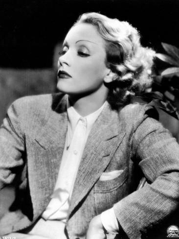 Half-Length Portrait of the Celebrted German Movie Actress Marlene Dietrich Photographic Print