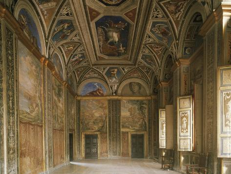 Hall of Galatea, with Fresco Triumph of Galatea by Raphael Sanzio Giclee Print