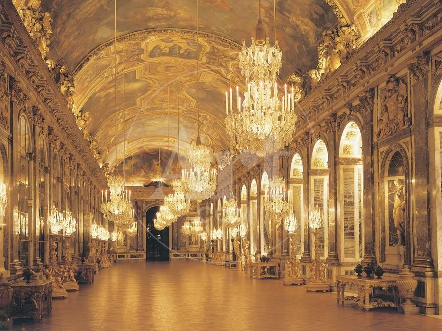 Hall Of Mirrors Palace Of Versailles France Giclee Print At