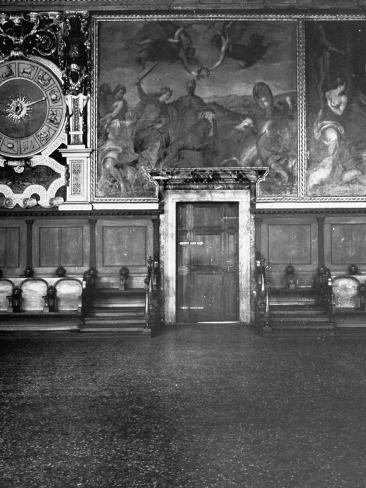 Hall of the Collegio Inside the Doge's Palace Stretched Canvas Print