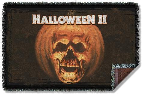Halloween II - Poster Sub Woven Throw Throw Blanket