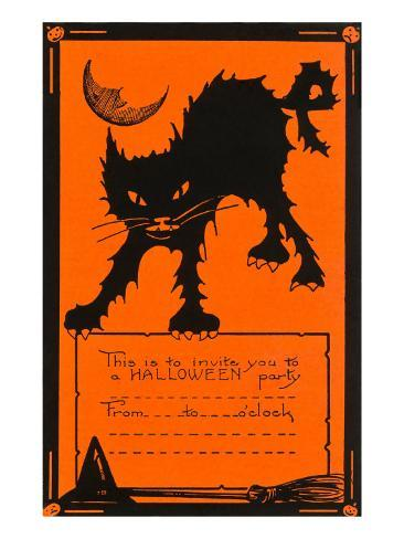 Halloween Party Invitation Art Print