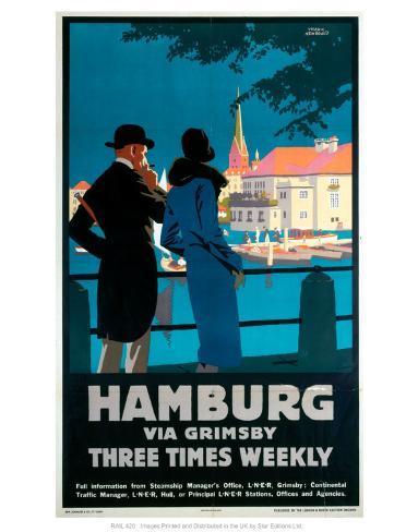 Hamburg via Grimsby Art Print