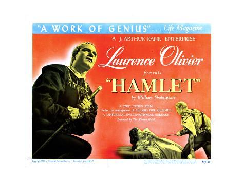 Hamlet, Laurence Olivier, Eileen Herlie, 1948 Giclee Print