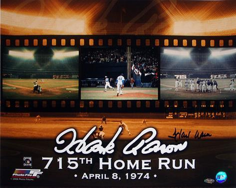 Hank Aaron - 715th Home Run Color Autographed Photo (Hand Signed Collectable) Photo