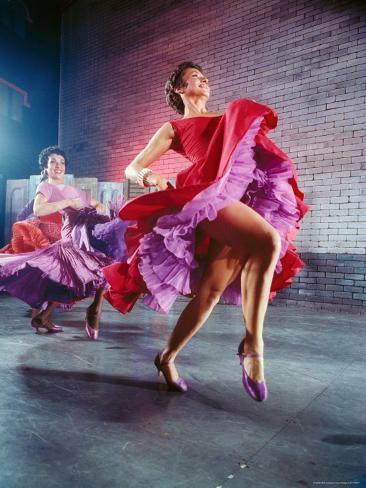 Chita Rivera and Liane Plane Dancing in a Scene from the Broadway Production of West Side Story Premium Photographic Print