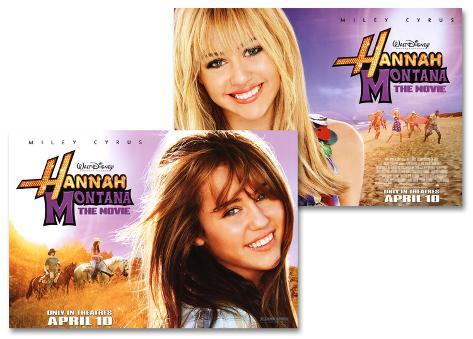 Hannah Montana- The Movie Double-sided poster
