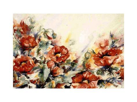 Rode Papaver Art Print