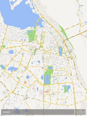 Hanoi, Viet Nam Map Posters - at AllPosters.com.au