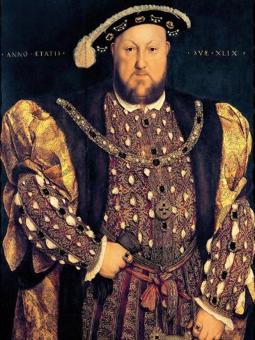 Portrait of Henry VIII (1491-1547) Aged 49, 1540 Giclee Print