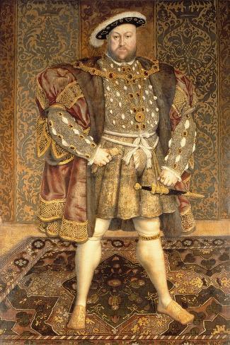 Portrait of Henry VIII (1491-1547) Impressão giclée