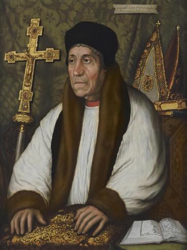 Portrait of William Warham, Archbishop of Canterbury Impressão giclée