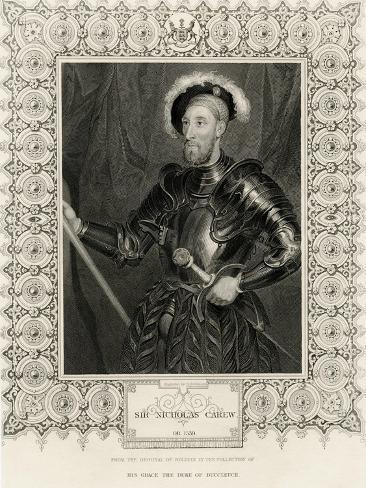 Sir Nicholas Carew Lámina giclée