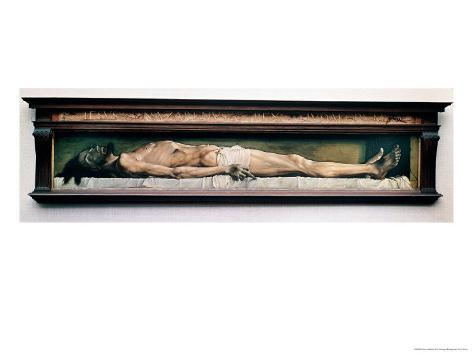 The Body of the Dead Christ in the Tomb. 1521 Giclee Print