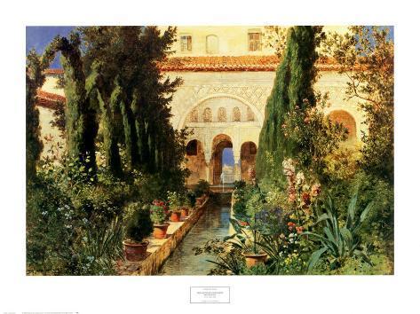 Der Garten des Generalife Bei Granada Art Print