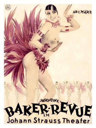 Josephine Baker Revue Giclee Print