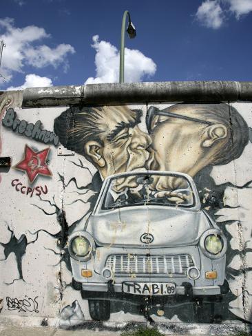 East Side Gallery, Berlin Wall Museum, Berlin, Germany, Europe Photographic Print