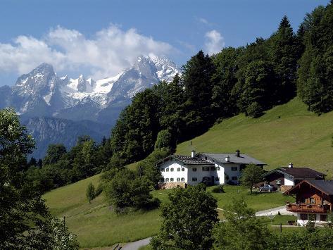 Farm Near Maria Gern and Watzmann, Berchtesgadener Land, Bavaria, Germany, Europe Photographic Print