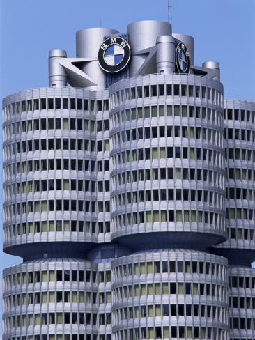 Headquarters of Bmw, Munich, Bavaria, Germany Impressão fotográfica