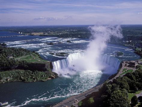 Horseshoe Falls, Niagara Falls, Ontario, Canada Impressão fotográfica