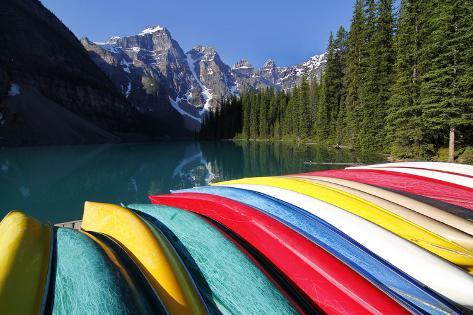 Moraine, Lake, Banff Nationalpark, Alberta Photographic Print