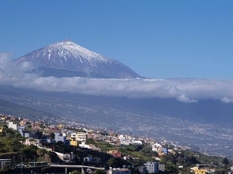 Orotava Valley and Pico Del Teide, Tenerife, Canary Islands, Spain, Europe Impressão fotográfica