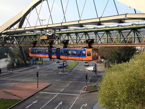 overhead railway wuppertal north rhine westphalia germany europe l mina fotogr fica por hans. Black Bedroom Furniture Sets. Home Design Ideas