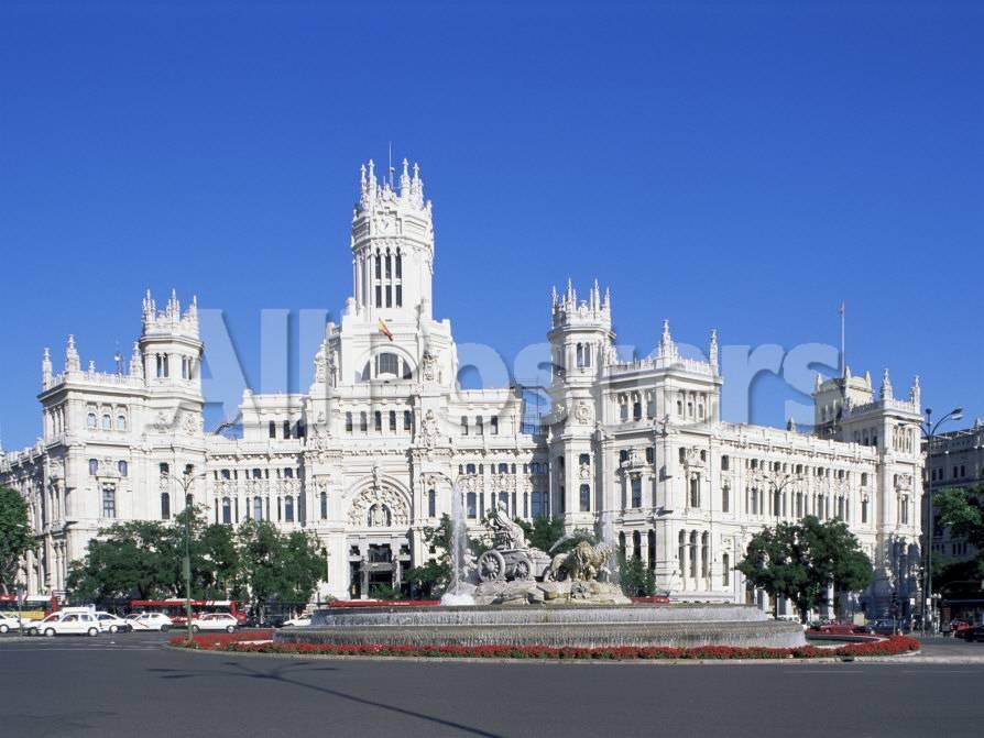 Palacio De Comunicaciones, Plaza De La Cibeles, Madrid, Spain Lámina ...