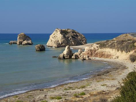 Petra Tou Romiou, Aphrodite's Rock, UNESCO World Heritage Site, Near Paphos, Cyprus, Mediterranean, Photographic Print