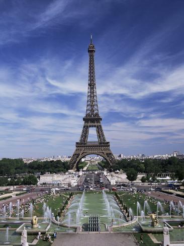 Trocadero and the Eiffel Tower, Paris, France Impressão fotográfica