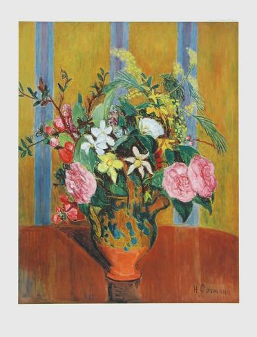 Flowers on Yellow Ground Collectable Print