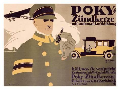 Poky Zundkerze Giclee Print