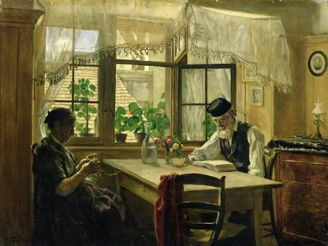 A Peaceful Sunday, 1876 Lámina giclée