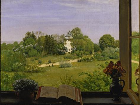 The Oed, View of Holzhausenpark, Frankfurt, 1883 Giclee Print
