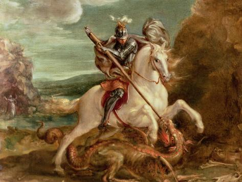 St. George Slaying the Dragon Giclee Print